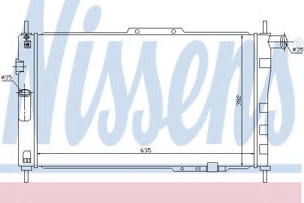 Радіатор охолоджування Nissens 61656