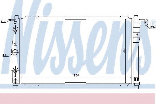 Радіатор охолоджування Nissens 616591