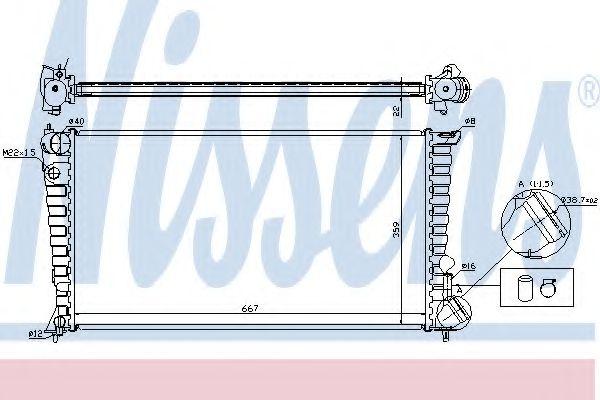 Радіатор охолоджування Nissens 61315