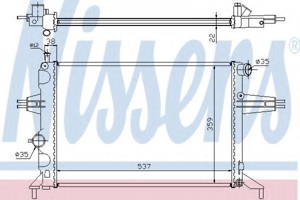 Радіатор охолоджування Nissens 63005A