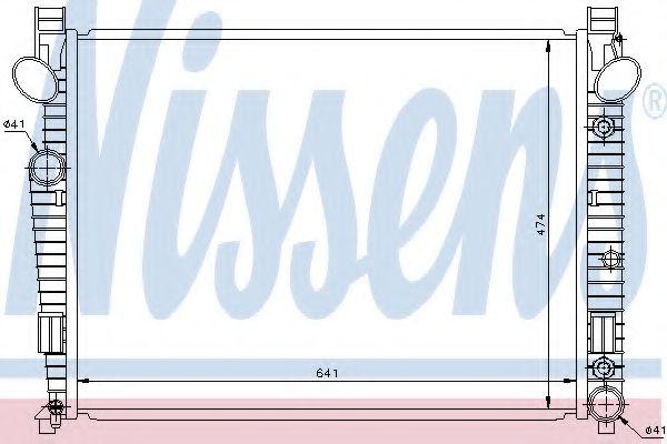 Радіатор охолоджування Nissens 62772