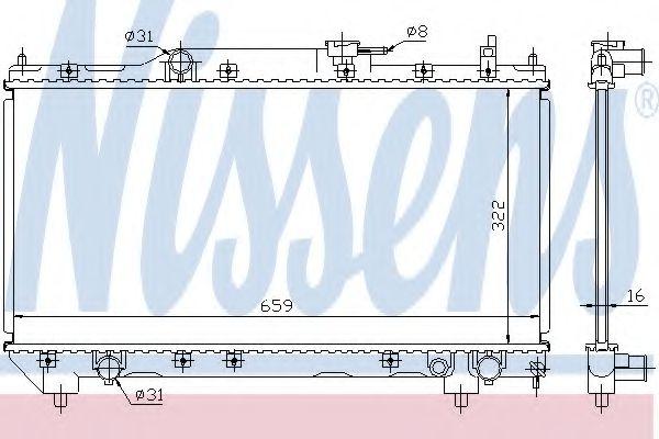Радіатор охолоджування Nissens 64781A