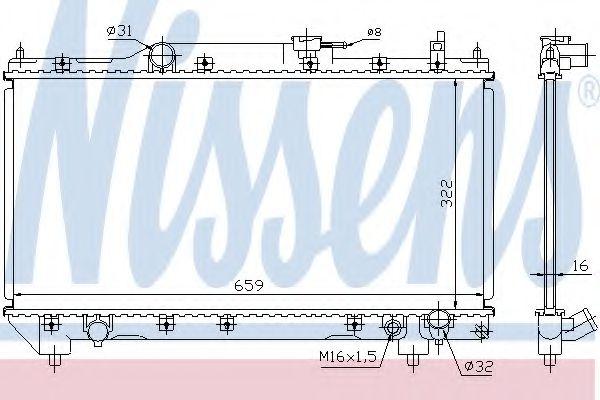 Радіатор охолоджування Nissens 64783A