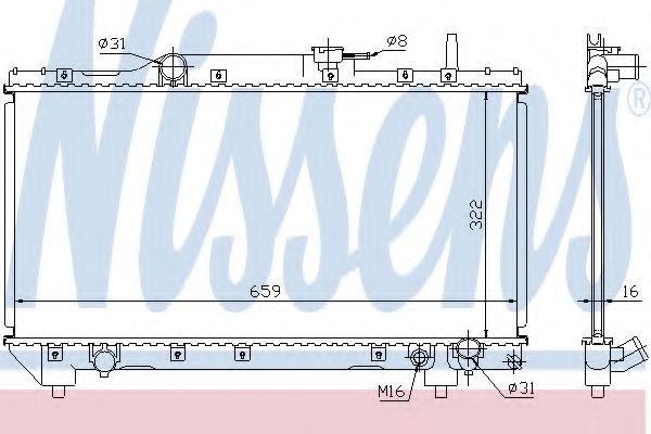 Радиатор, охлаждение двигателя NISSENS арт. 64837A