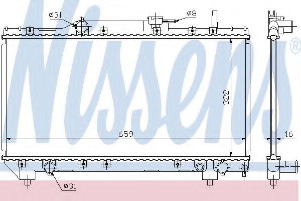 Радіатор охолоджування Nissens 64838A