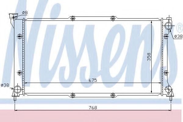 Радіатор охолоджування Nissens 67701