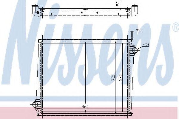 Радиатор, охлаждение двигателя NISSENS арт. 64068A