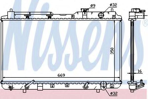 Радіатор охолоджування Nissens 681021