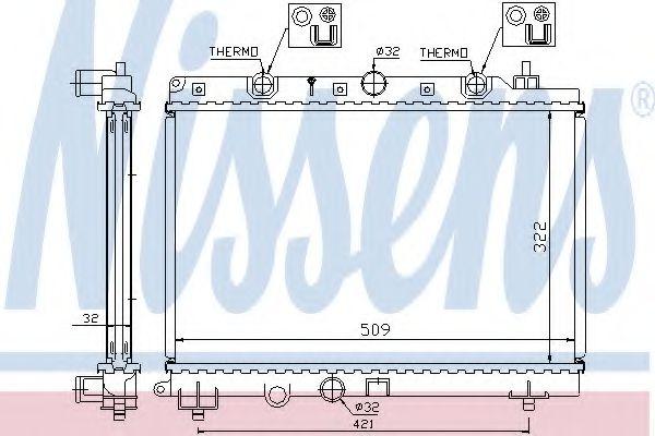 Радіатор охолоджування Nissens 64304A