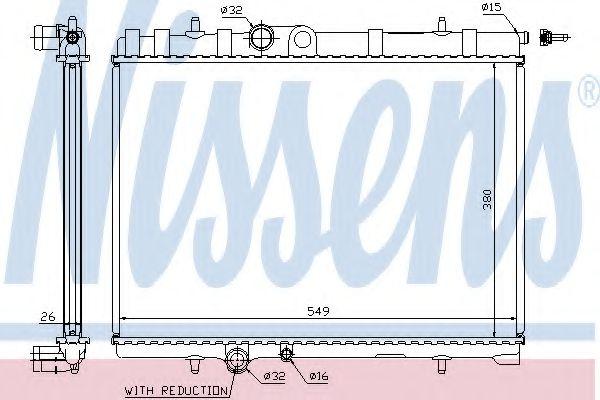 Радіатор охолоджування Nissens 63744A