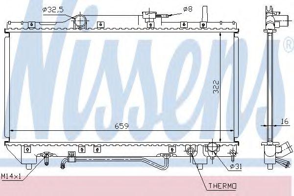 Радиатор, охлаждение двигателя NISSENS арт. 64802A