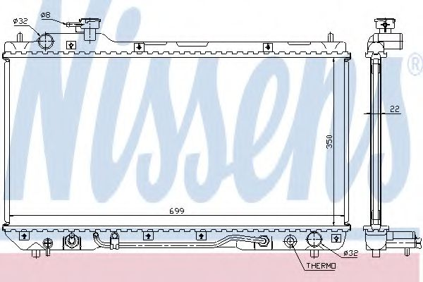 Радиатор, охлаждение двигателя NISSENS арт. 64630A