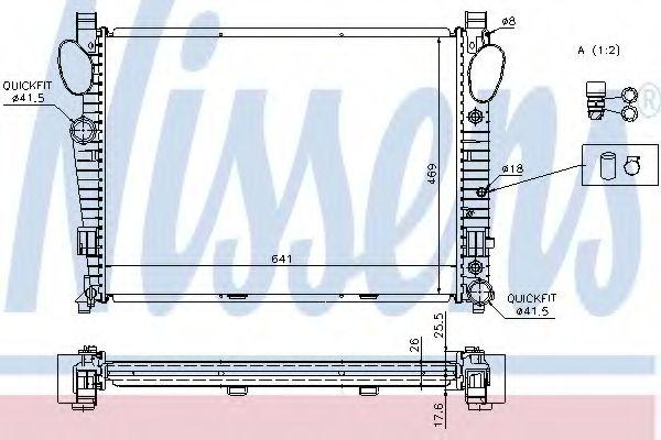 Радіатор охолоджування Nissens 62774A
