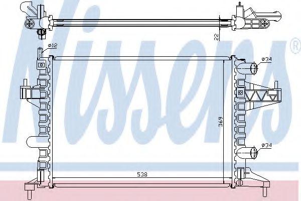 Радіатор охолоджування Nissens 63007