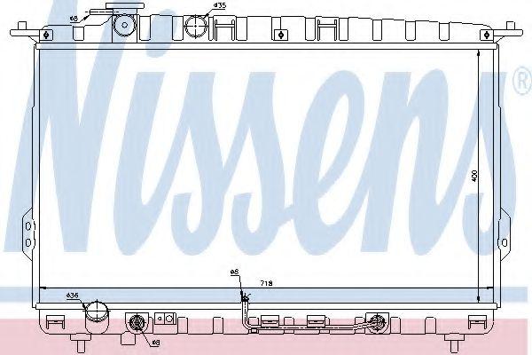 Радіатор охолоджування Nissens 67027