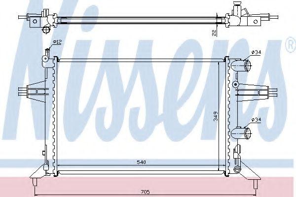 Радіатор охолоджування Nissens 63016