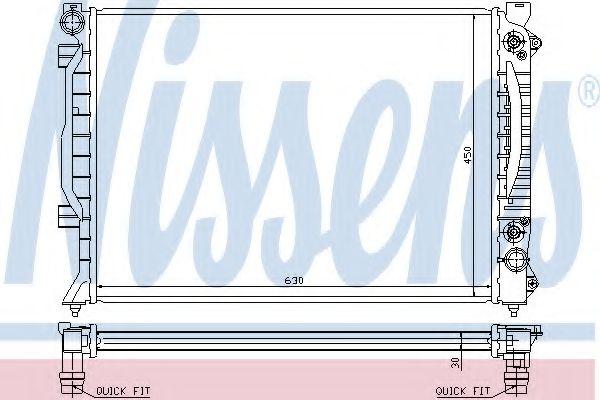 Радиатор, охлаждение двигателя NISSENS арт. 60423A