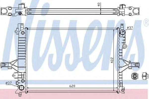 Радиатор, охлаждение двигателя NISSENS арт. 65553A