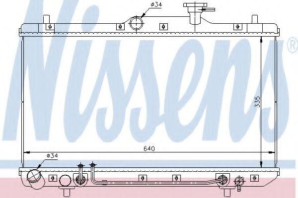 Радиатор, охлаждение двигателя NISSENS арт. 67023