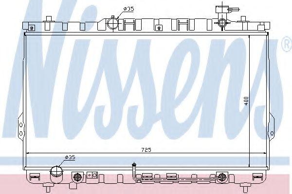 Радіатор охолоджування Nissens 67030