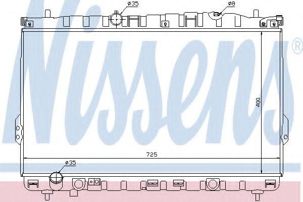 Радіатор охолоджування Nissens 67032