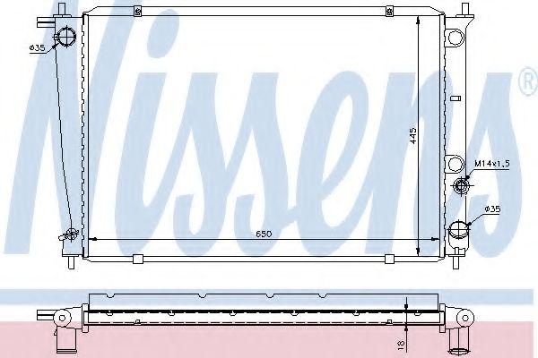Радиатор, охлаждение двигателя Nissens - 67039