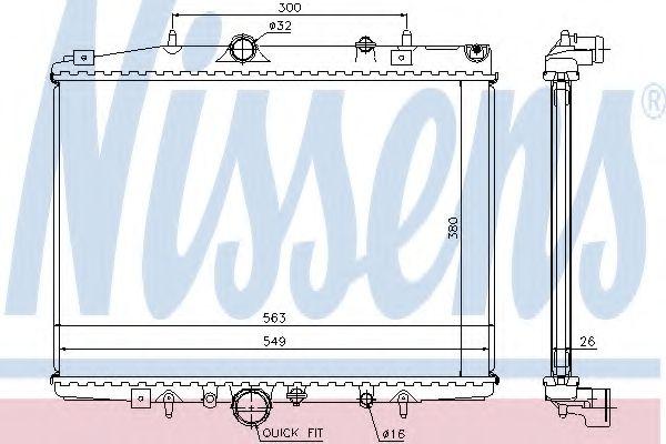 Радіатор охолоджування Nissens 63703