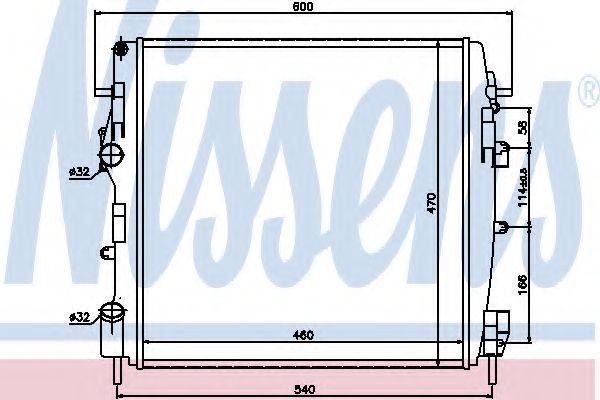 Радиатор, охлаждение двигателя Nissens - 63762
