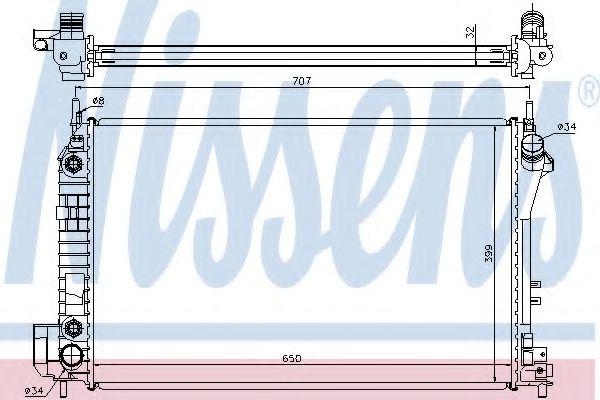 Радіатор охолоджування Nissens 63023