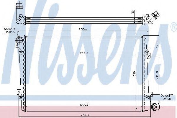 Радиатор, охлаждение двигателя Nissens - 65292