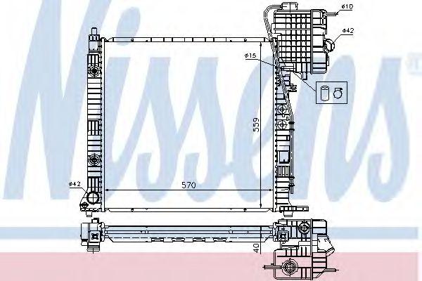 Радиатор, охлаждение двигателя NISSENS арт. 62561A