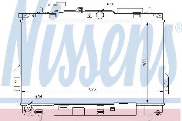 Радіатор охолоджування Nissens 67481