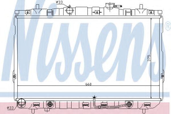 Радіатор охолоджування Nissens 67493