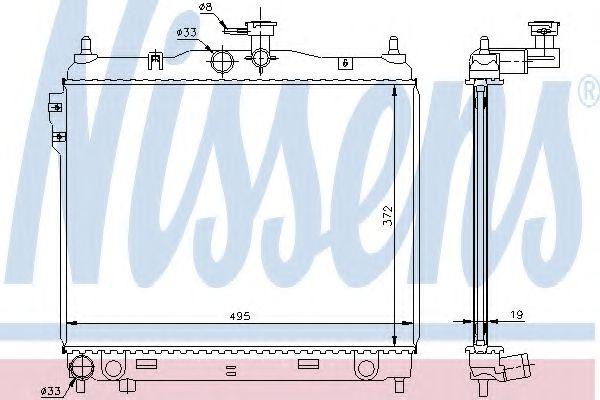 Радіатор охолоджування Nissens 67495