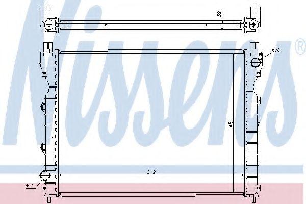 Радіатор охолоджування Nissens 64310A
