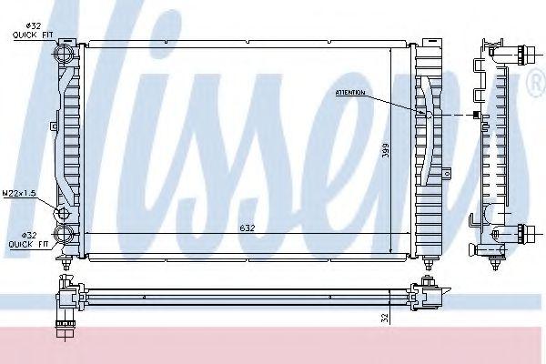 Радиатор, охлаждение двигателя NISSENS арт. 60299
