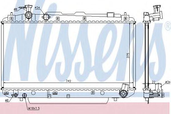 Радиатор, охлаждение двигателя Nissens - 64639A