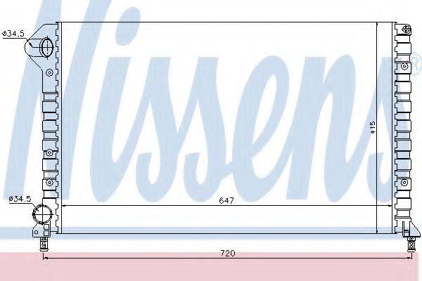 Радіатор охолоджування Nissens 61767