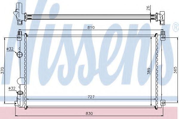Радіатор охолоджування Nissens 63824A