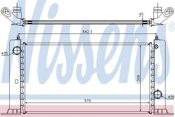 Радіатор охолоджування Nissens 61883A