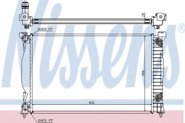 Радіатор охолоджування Nissens 60305A