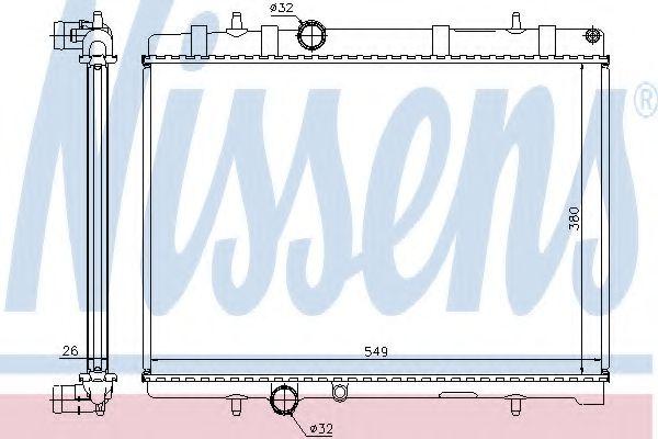 Радиатор, охлаждение двигателя NISSENS арт. 63605A