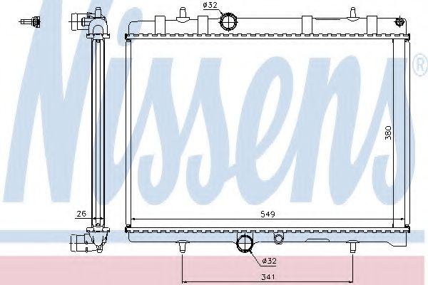Радіатор охолоджування Nissens 63606A