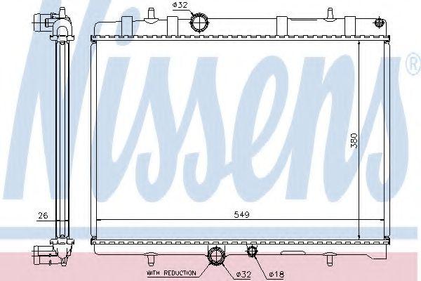 Радіатор охолоджування Nissens 63607A