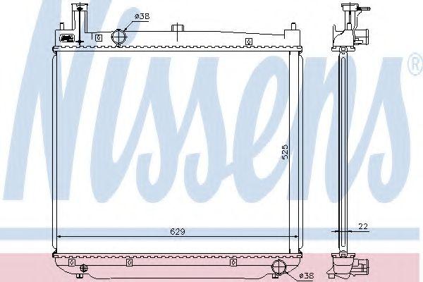 Радіатор охолоджування Nissens 64649A