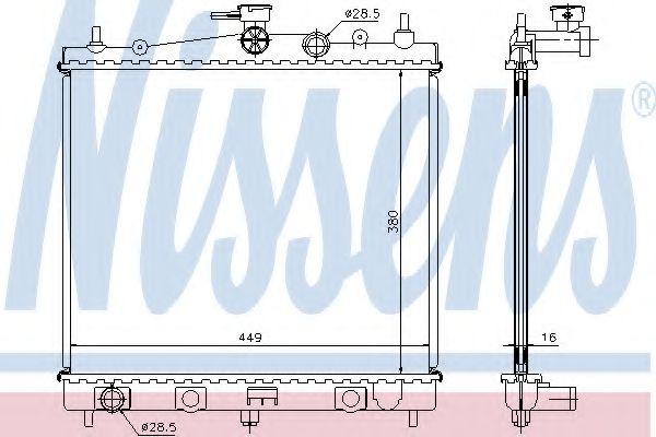 Радіатор охолоджування Nissens 62902A