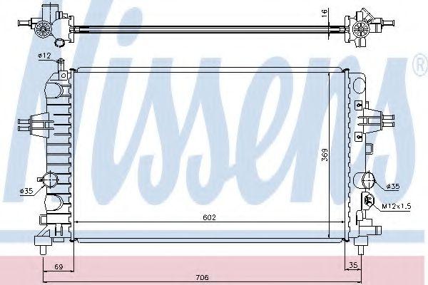 Радиатор, охлаждение двигателя Nissens - 63028A