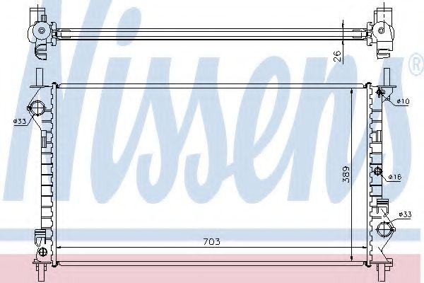 Радіатор охолоджування Nissens 62021A