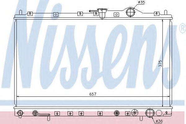 Радіатор охолоджування Nissens 62887