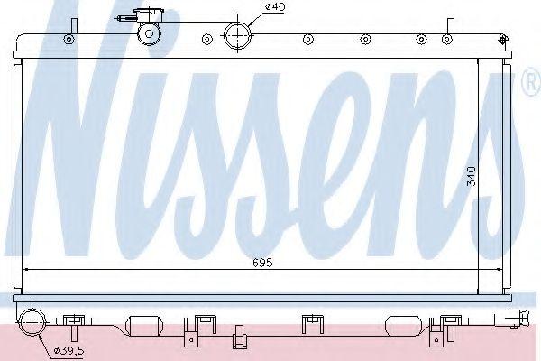 Радіатор охолоджування Nissens 67708